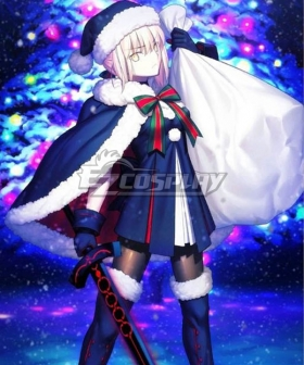 Fate Grand Order Saber Christmas Cosplay Costume