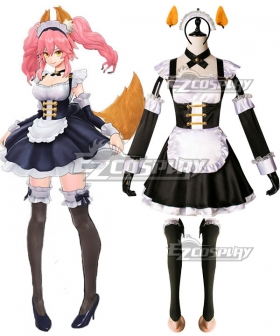 Fate EXTELLA Tamamo no Mae Maid Outfit Cosplay Costume