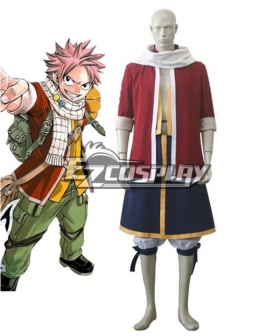 Fairy Tail Natsu Dragneel Red Cosplay Costume