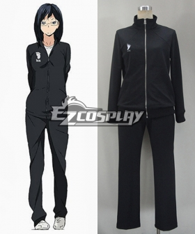 Haikyu!! Cosplay Volleyball Juvenile Black Sportswear Uniform Costume