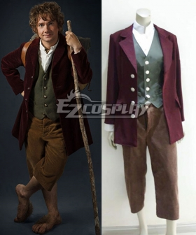 The Hobbit The Lord of the Rings Bilbo Baggins Cosplay Costume