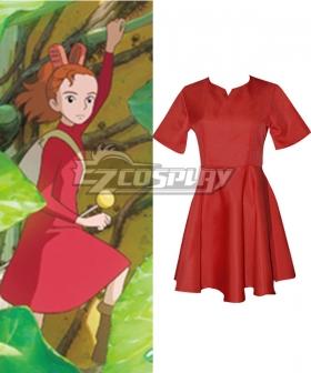 Hayao Miyazaki The Borrower Arrietty The Secret World of Arrietty Arietti Red Dress Cosplay Costume