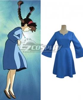 Hayao Miyazaki Laputa Castle in the Sky Princess Sheeta Lusheeta Toel Ul Laputa Blue Dress Cosplay Costume