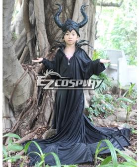 Maleficent Disney Movie Black Witch Angelina Jolie Cosplay Costume- Kids Ver.