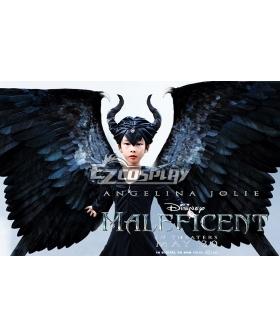 Disney Maleficent Movie Black Witch Angelina Jolie Cosplay Costume Childrenswear Dress