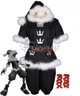 Kingdom Hearts Christmas Sora CT Valor Santa Form Cosplay Costume