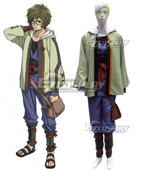 Kabaneri of the Iron Fortress Ikoma Green Cosplay Costume