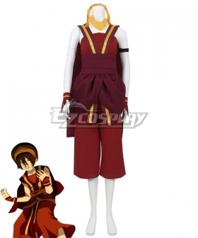 Avatar The Last Airbender Toph Beifong Red Cosplay Costume