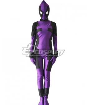 Marvel Female Deadpool Purple Zentai Cosplay Costume