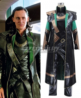Marvel's The Avengers Loki Whole Set Cosplay Costume