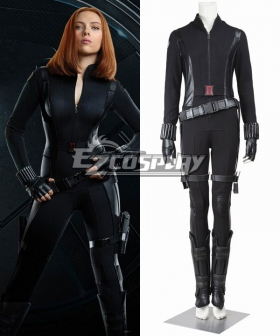 Marvel Captain America 2 The Winter Soldier Black Widow Natasha Romanoff Cosplay Costume