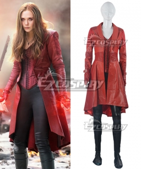 Marvel Captain America: Civil War Scarlet Witch Wanda Maximoff Cosplay Costume