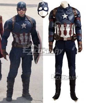 Marvel Captain America Civil War Steven Steve Rogers Cosplay Costume