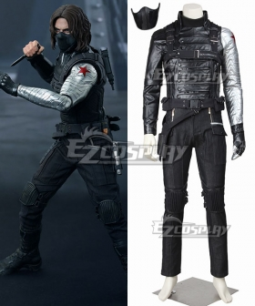 Marvel Captain America The Winter Soldier James Buchanan Bucky Barnes Cosplay Costume