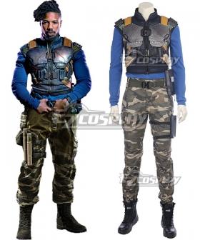 Marvel Movie Black Panther 2018 Erik Killmonger Cosplay Costume