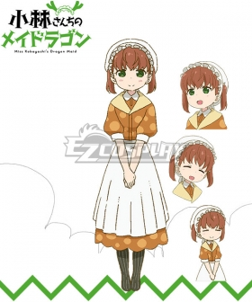 Miss Kobayashi's Dragon Maid Georgie Saikawa Cosplay Costume