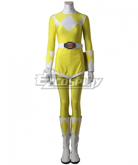 Mighty Morphin' Power Rangers Boy Tiger Ranger Cosplay Costume - Including Boots