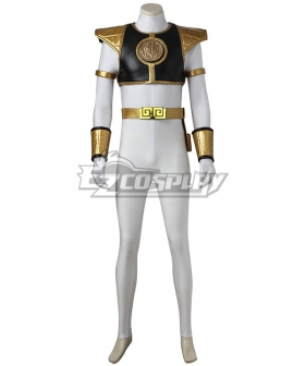 Mighty Morphin' Power Rangers Tommy Oliver White Power Ranger Cosplay Costume