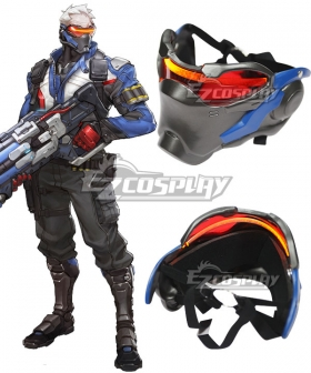 Overwatch OW Soldier 76 John Jack Morrison Mask Cosplay Accessory Prop