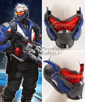 Overwatch OW Soldier 76 John Jack Morrison Mask Cosplay Accessory Prop - A Edition