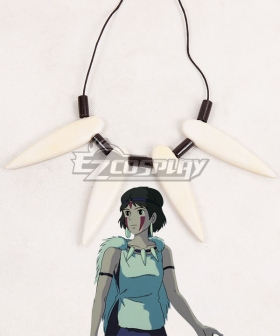 Princess Mononoke San Necklace Cosplay Accessory Prop