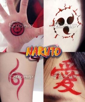 Naruto Hatake Kakashi Anbu Gaara Uzumaki Naruto Konoha Uchiha Sasuke Tattoo Cosplay Accessory Prop