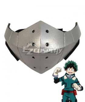 My Hero Academia Boku no Hero Akademia Izuku Midoriya Deku Silver Mask Cosplay Accessory Prop
