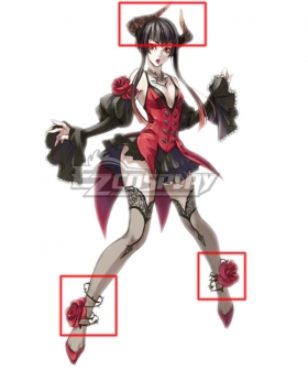 Tekken Eliza Render Head wear and Foot wear Cosplay Accessory Prop