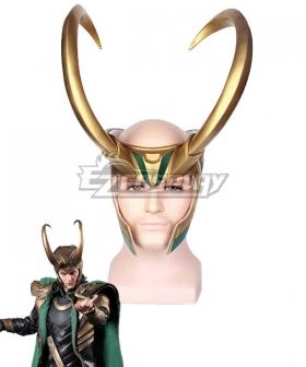Marvel Thor 3 Ragnarok Loki Head wear Cosplay Accessory Prop