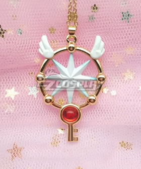 Cardcaptor Sakura: Clear Card Sakura Kinomoto Dream Key Necklace Cosplay Accessory Prop