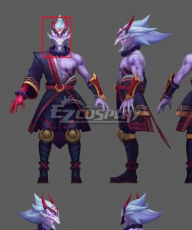 Blood Moon Master Yi Mask Cosplay Accessory Prop