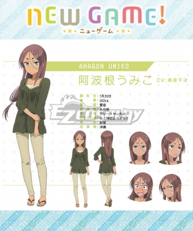 New Game! Umiko Ahagon Cosplay Costume