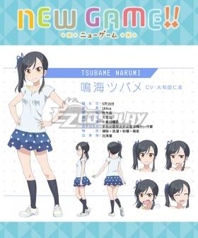 New Game!! Tsubame Narumi Cosplay Costume