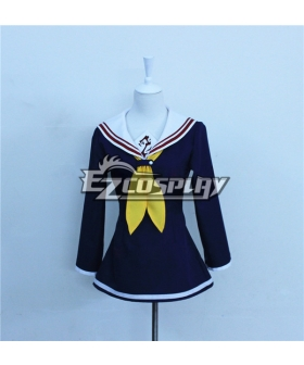 No Game No Life Shiro Dark Blue Cosplay Costume