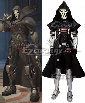 Overwatch OW Reaper Gabriel Reyes Cosplay Costume - No Mask