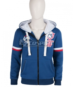 Overwatch OW Blue Hoodie Coat Cosplay Costume