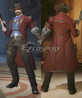 Overwatch OW Riverboat Jesse McCree Cosplay Costume