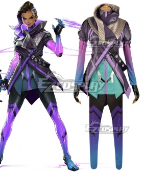 Overwatch OW Sombra Hacker Cosplay Costume - Premium Edition