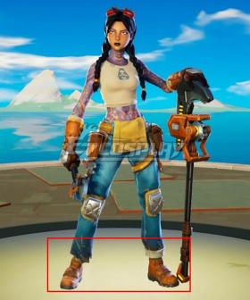 EpicGames Fortnite Jules Orange Shoes Cosplay Boots