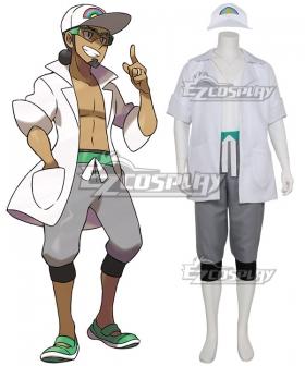 Pokemon Sun and Moon Professor Kukui Cosplay Costume