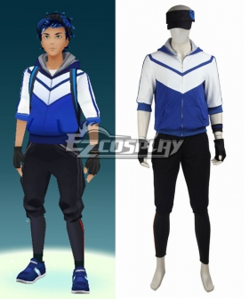 Pokémon GO Pokemon Pocket Monster Trainer Male Blue Cosplay Costume