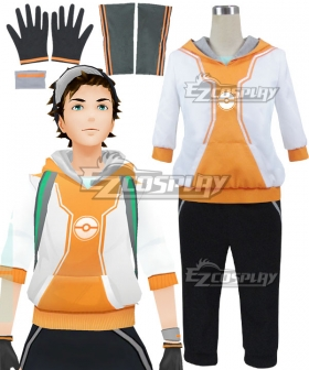 Pokémon GO Pokemon Pocket Monster Trainer Male Orange Cosplay Costume - B Edition