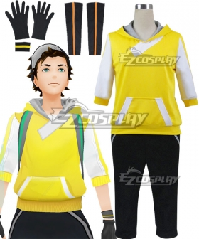 Pokémon GO Pokemon Pocket Monster Trainer Male Yellow Cosplay Costume - B Edition