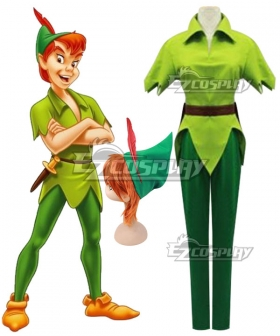 Peter Pan Adult Men Costume Green Carnival Party Cosplay Costume