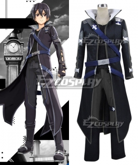 Sword Art Online Hollow Realization SAO Kirigaya Kazuto Kirito Game Cosplay Costume