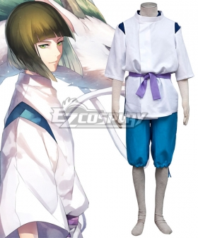 Hayao Miyazaki Spirited Away Haku Spirit Of The Kohaku River Cosplay Costume