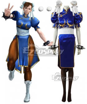 Street Fighter Chun Li Cosplay Costume - Premium Edition