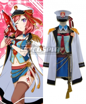 Love live School Idol Festival Navy Sailor Maki Nishikino Marine Cosplay Costume