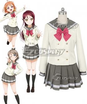 Love Live! Sunshine!! Aqours Takami Chika Watanabe You Sakurauchi Riko School Uniform Cosplay Costume