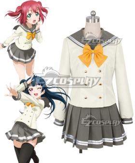 Love Live! Sunshine!! Aqours Ruby Kurosawa Tsushima Yoshiko School Uniform Cosplay Costume